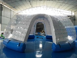 Semi Transparan Inflatable Bubble Tent / Inflatable Yard Tent Putih PVC Tarpaulin pemasok