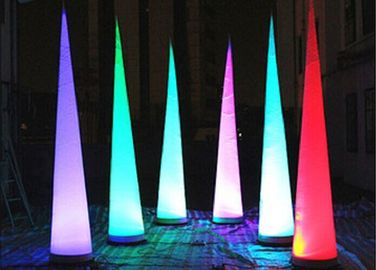 Led Lighting Inflatable Advertising Products, Dekorasi Pesta Inflatable Cone pemasok