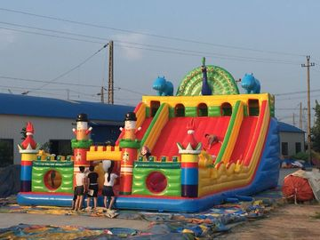 PVC Material Anak Inflatable Playground Slide Castle Type Bouncy Castle Games pemasok