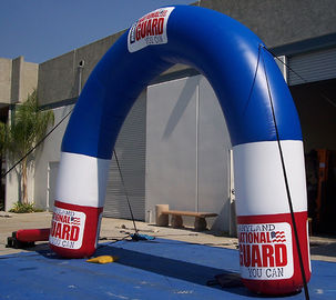 Acara Inflatable Advertising Products Curved Arch dari Plato PVC terpal