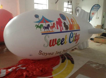 PVC Inflatable Advertising Products Airtight Blimp Helium Airship untuk Tampilan