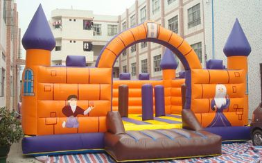 Komersial Amazing Inflatable Bouncy Castle, Taman Hiburan Tiup pemasok