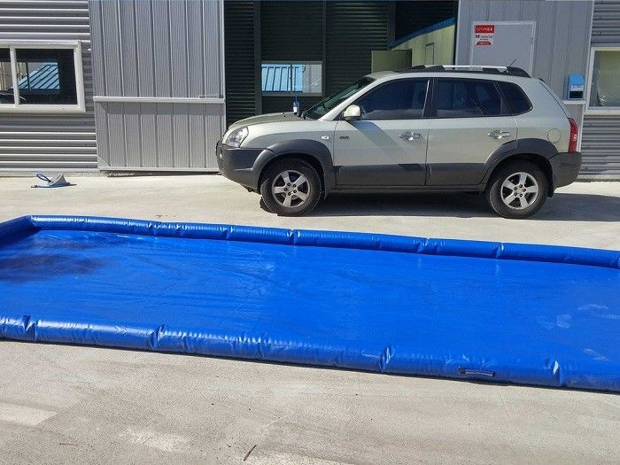 Cina Flexible Blue Car Wash Mats Water Containment Printing Double - Tripple Stitch pabrik
