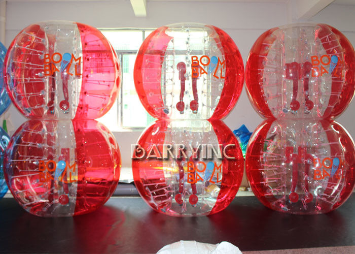 Cina Outdoor Inflatable Kids Toys 1.8M TPU Bahan Half Blue Bubble Ball / Red Bubble Balls pabrik