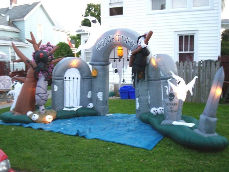 Kustom Inflatable Iklan Produk Halloween Dekorasi Inflatable Entrance Arch pemasok
