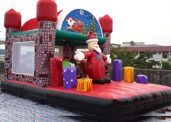 Cina Jungel Inflatable Balita Playground, Kastil Santa Claus House Outdoor Bouncy pabrik