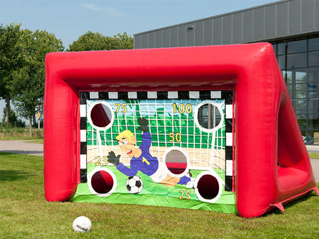 Cina Outdoor Inflatable Sports Games Portable Kids Inflatable Football Soccer Goal pabrik