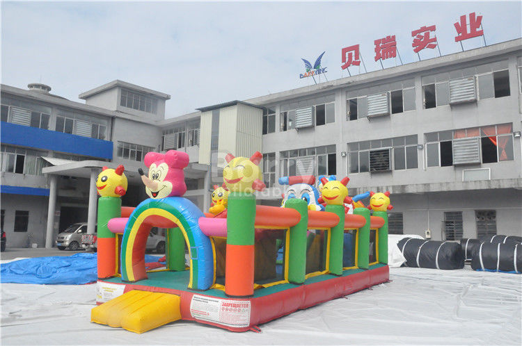Cina Plato PVC Tarpaulin Inflatable Balita Playground / Inflatable Fun City pabrik