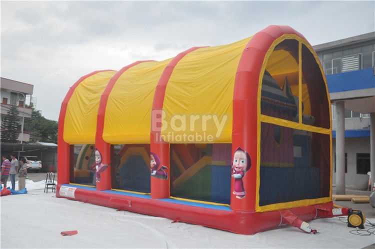 Indoor / Outdoor Anak Inflatable Playground Equipment Dengan Cover