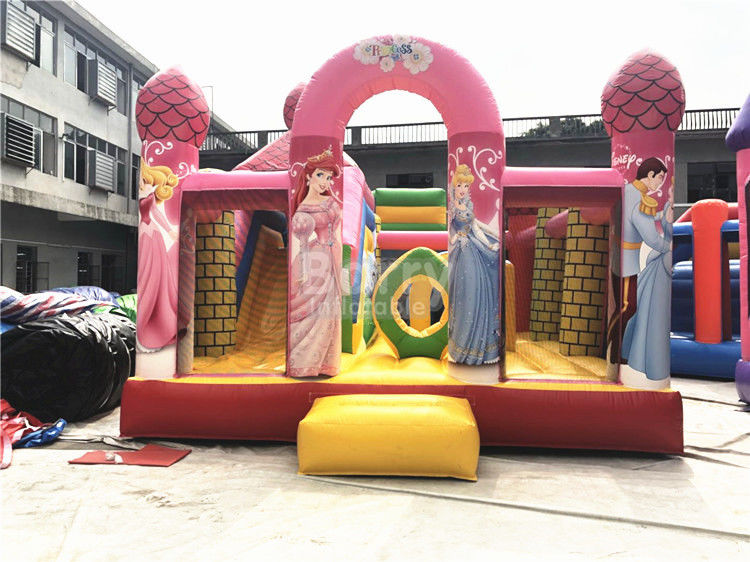 Cina Big Pink Princess Inflatable Bouncer, Rumah Bouncing Komersial Profesional pabrik
