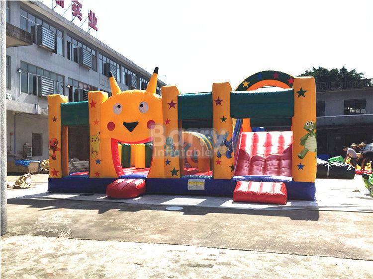 Cina Fire-resistant Big Inflatable Bounce House Dengan Slide Combo SCT EN71 pabrik