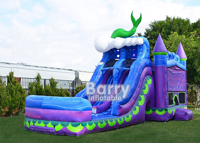Cina Mermaid Dual Lane Titan Plus (6 IN 1) Combo / Tiup Bouncer Slide Combo pabrik