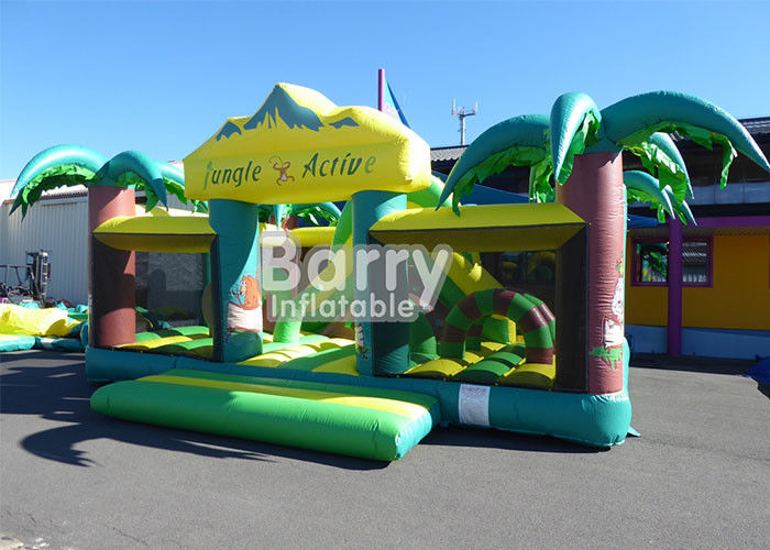 Outdoor dan Indoor PVC Material Equipment Toys Jungle Theme Big Toddler Inflatable Playground pemasok