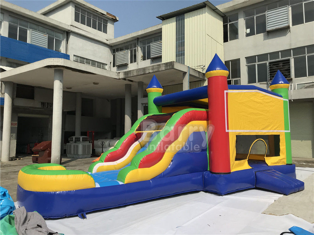 Cina Komersial Grade Outdoor Inflatable Combo Rumah Bouncing Inflatable Dengan Slide pabrik