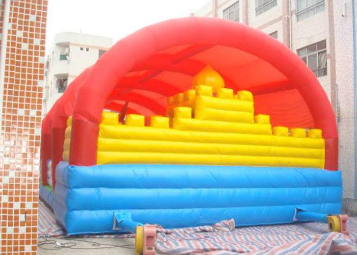Cina Sewa Inflatable Bouncy Castle Untuk Jumping / Outdoor Inflatable Fun City pabrik